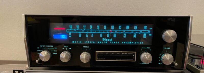 Vintage McIntosh MX113 Serviced Ready to go and In Excellent Condition