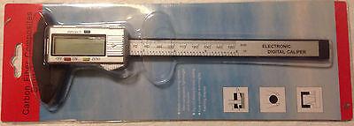 Carbon Fiber Digital 6 Inch Lcd Silver Color Vernier Caliper Micrometer Guage