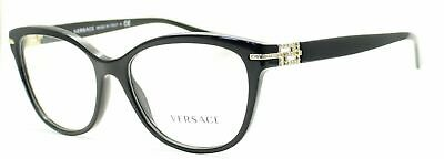 Versace 3205 B GB1 Black & Gold Brille Glasses Eyeglasses Frames - Eyewear