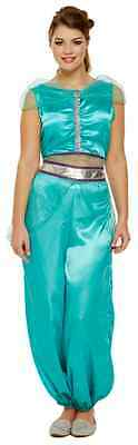 Ladies Jasmine Arabian Princess Belly Dancer Fancy Dress Costume Outfit 8-12 (Arabian Outfits Ladies)