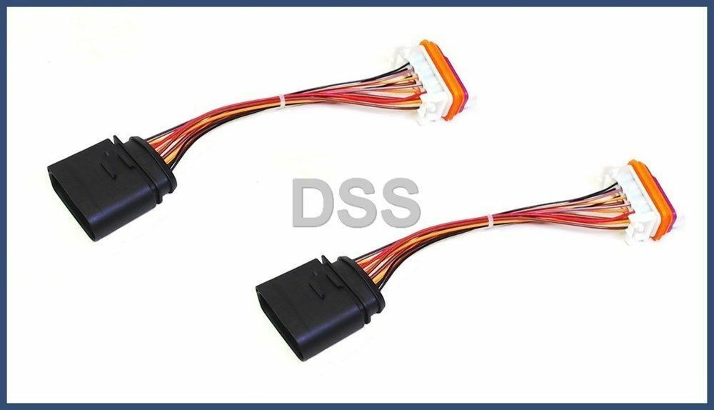Headlight Wiring Harness Lamp Xenon Front Connector For Porsche Cayenne  03-06