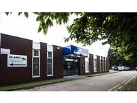 Office rooms to rent in a small business site in Morley, close to motorways