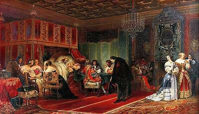 Ölbilder Ölgemälde Gemälde TCardinal Mazarin Dying 60x120cm