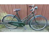 1947 Raleigh All Steel Ladies Bike-green-21 ins frame-26 ins wheels-SA dyna hub-Brooks saddle