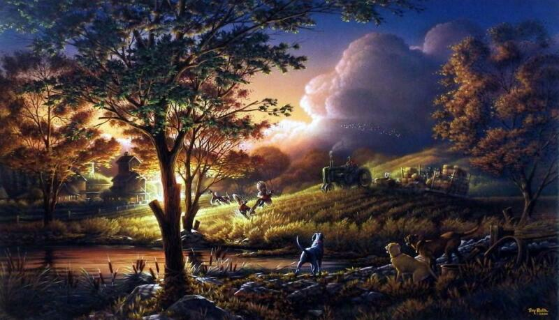 "Terry Redlin Always Alert - 32""x18.5"" Signed/Numbered"