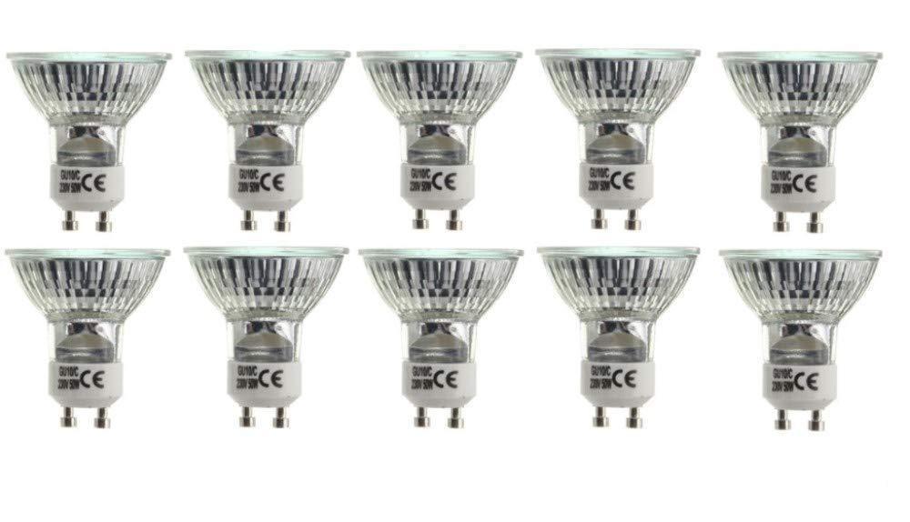10er Set Brilliant Halogen Strahler mit GU10 Sockel warm-weiß 230 Volt 50 Watt