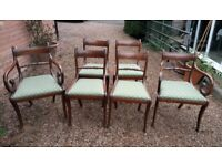 Set of Mahogany Regency Style Dining Chairs