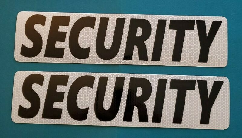 SECURITY BOLD REFLECTIVE MAGNETIC SIGNS Personal Car Truck Van SUV Police PODV