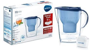 Brita Kit Marella Blue Con 7 Filtri Maxtra+ Caraffa Filtrante Per Acqua 2,4 LT