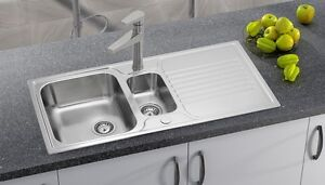 ASTRACAST LINATE STAINLESS STEEL 1.5 REVERSIBLE DRAINER KITCHEN SINK (Sink Only)