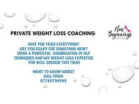 One to One Weight Loss Coaching - NLP Master Practitioner with 7 yrs of weight loss expertise!