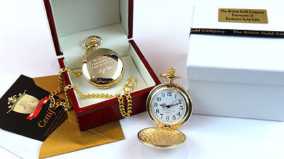 Marilyn Monroe GOLD Signed Quote POCKET WATCH Autograph Luxury Gift Wooden Case