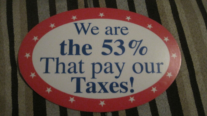 We are the 53% That pay our Taxes! Car Magnet - Stand up and be heard!
