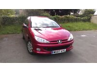 Peugeot 206 1.4 - Left Hand Drive - UK Registered 2010 - Red Metallic Finished