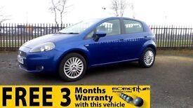 Fiat Grande Punto Gp; + 1 year MOT, Warranty, Excellent first car, Great MPG return.