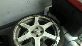 "Astra 18"" alloys 4 stud bk racing"