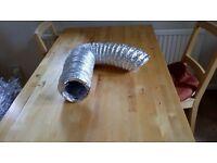 5 Metres Aluminium Foil Fire Resistant Flexible Ducting (125mm)