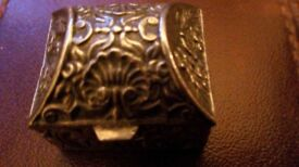 VERY OLD SILVER PILL BOX (STAMPED)