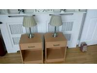 2 Bedside Cabinets and Lamps