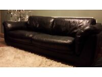 2 and 3 seater leather sofa,s