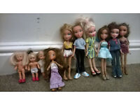 7 Bratz dolls and 3 baby dolls (great condition)