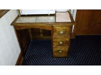 Antique school teacher's oak desk