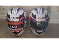 2 Brand New Helmets. Father/Son, Male/Female, Husband/Wife??. 1 x Large & 1 x Medium.