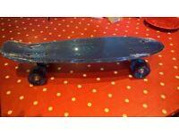 brand new kids skateboard -metalic blue