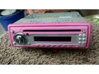 Ministry of Sound PINK car cd/radio player