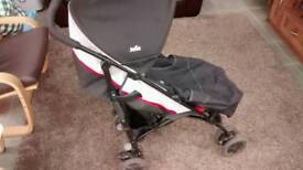 Joie baby stroller with rain cover, foot muff etc
