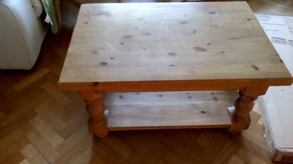 Chunky Antique Pine Coffee Table