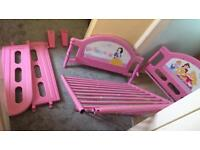 Girls princess single bed with mattress in good condition