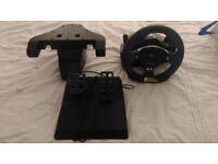 Logitech Force Feedback Driving wheel + Pedal - USB