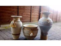 Set of 3 flower pots