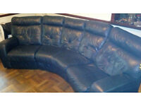 Bargain Leather 4-Seater Recliner Sofa