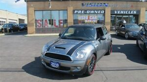2010 MINI COOPER S PANO ROOF/NAVI/HEATED SEATS