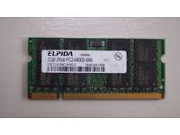 2GB DDR2 laptop RAM