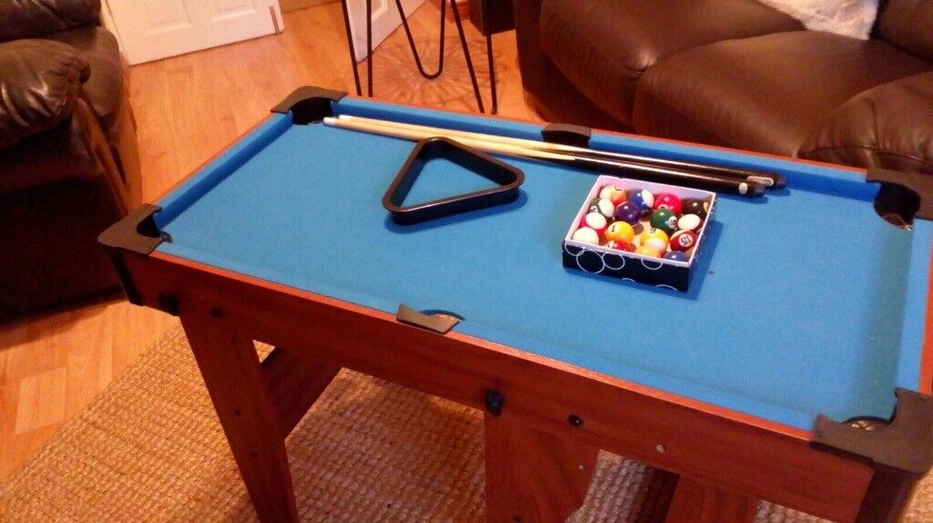 Kids folding 3ft pool table