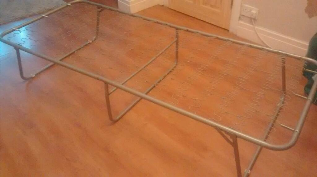 £10 Folding Metal Bed Frame (Slightly narrower than Single)