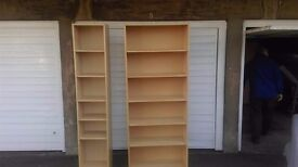 x2 ikea billy bookcases, in beech very good condition