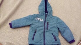 Boy's green shower proof coat age 12-18months