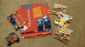 Fireman Sam junior quilt cover and pictures bundle