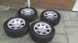 16in bmw alloys with good tyres