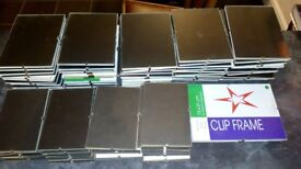81 Clip Frames. Assorted sizes: 51 are 7x5 inches, 27 are 6x4 inches and 3 are 8x6 inches