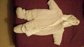 Baby pramsuit winter suit 0-3 months
