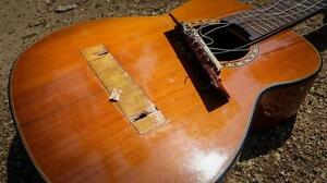 Damaged or broken guitars