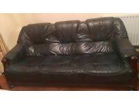 2 Leather Sofas - 2/3 seaters