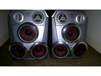Aiwa triple drive speakers pair