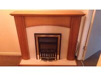 Electric fire with wood surround - £100 - Good condition