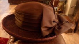 Brown wedding hat